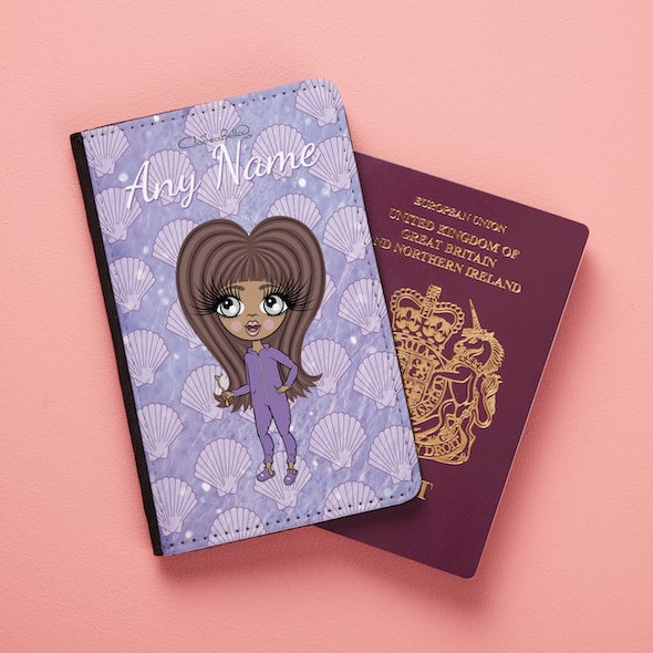 ClaireaBella Girls Sea Shells Passport Cover - Image 1