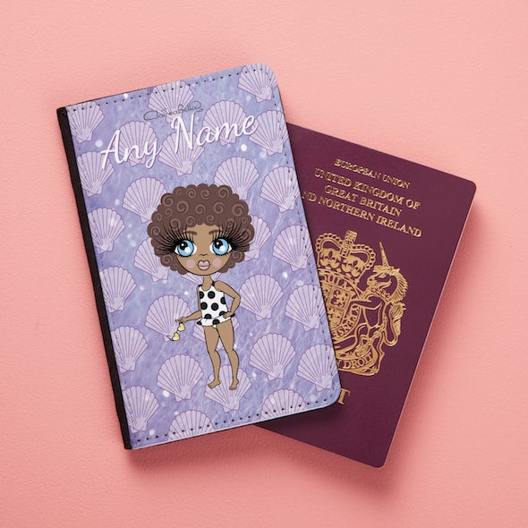 ClaireaBella Girls Sea Shells Passport Cover - Image 3