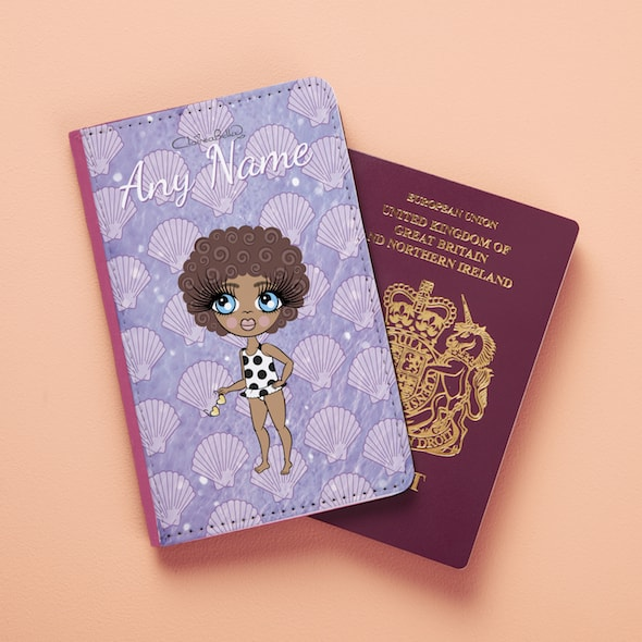 ClaireaBella Girls Sea Shells Passport Cover - Image 2