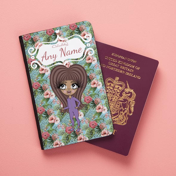 ClaireaBella Girls Hula Print Passport Cover - Image 1