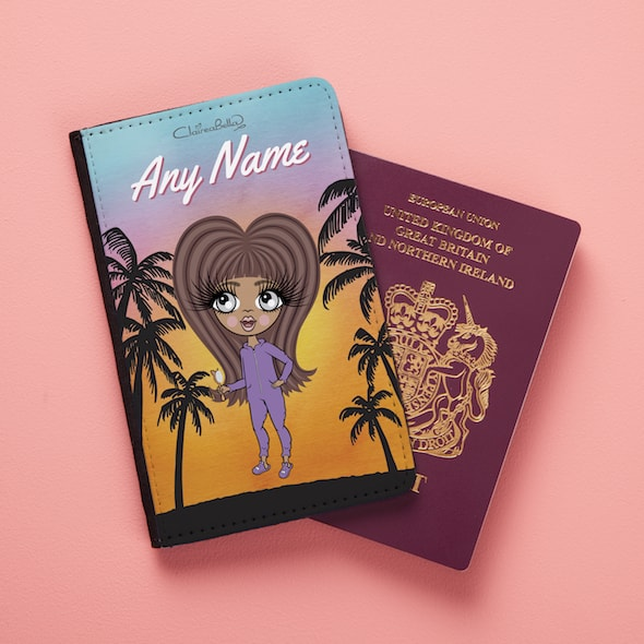 ClaireaBella Girls Tropical Sunset Passport Cover - Image 1