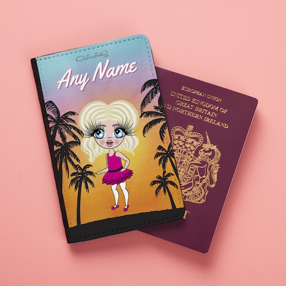ClaireaBella Girls Tropical Sunset Passport Cover - Image 2