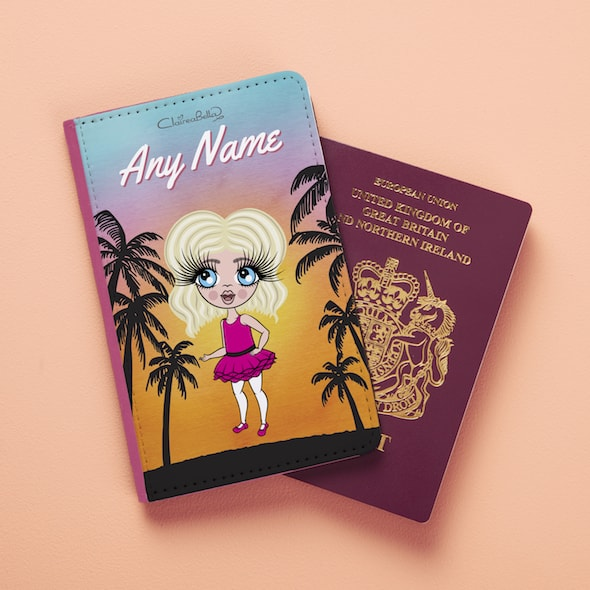ClaireaBella Girls Tropical Sunset Passport Cover - Image 3