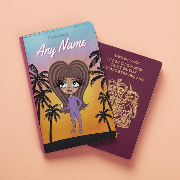 ClaireaBella Girls Tropical Sunset Passport Cover - Image 4