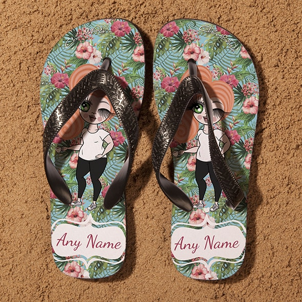 ClaireaBella Hula Print Flip Flops - Image 3