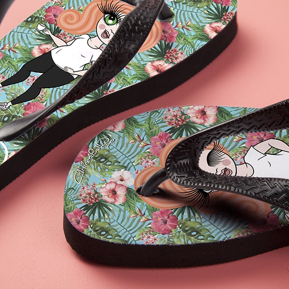 ClaireaBella Hula Print Flip Flops - Image 4