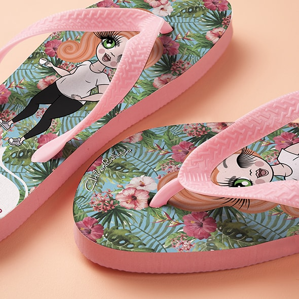 ClaireaBella Hula Print Flip Flops - Image 2