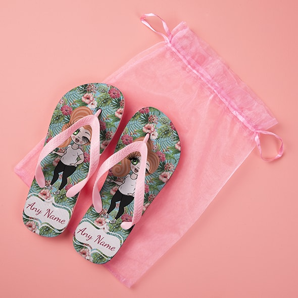 ClaireaBella Hula Print Flip Flops - Image 5