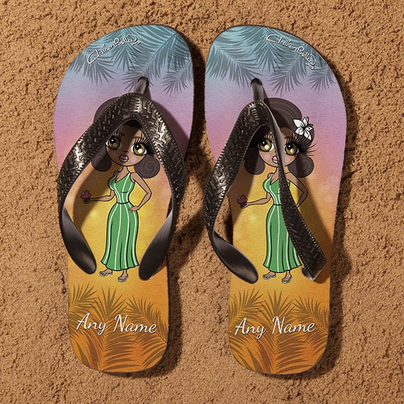 ClaireaBella Tropical Sunset Flip Flops - Image 3