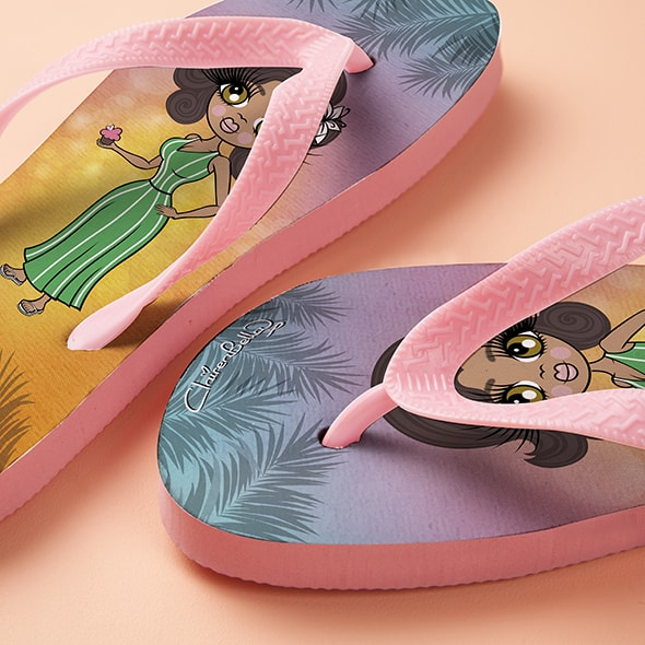 ClaireaBella Tropical Sunset Flip Flops - Image 2