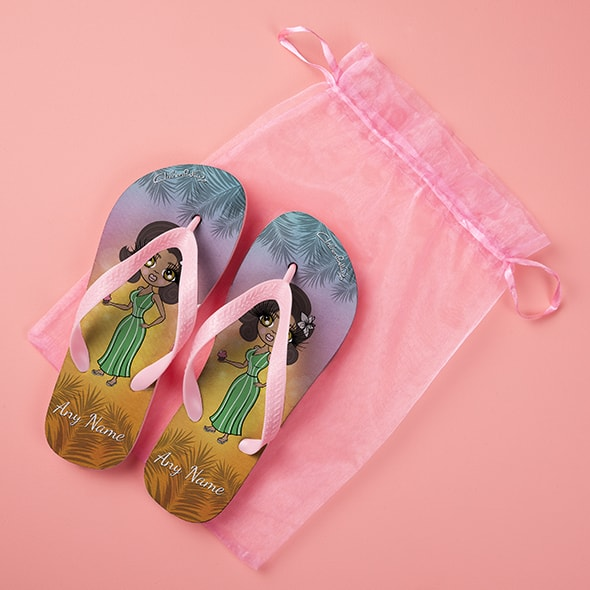 ClaireaBella Tropical Sunset Flip Flops - Image 5