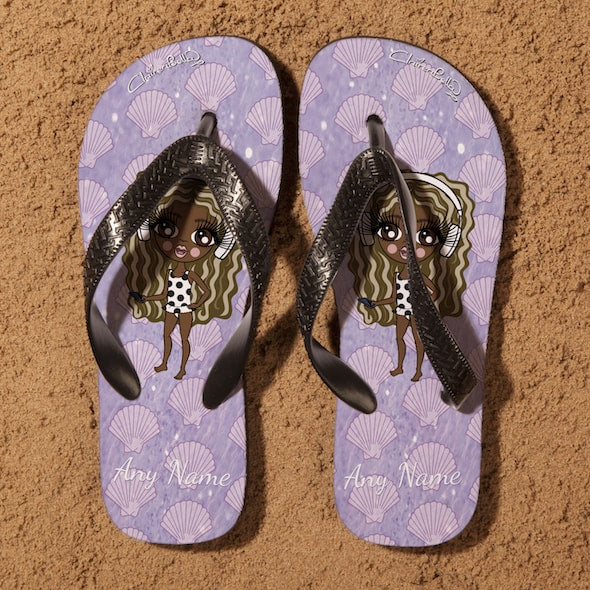 ClaireaBella Girls Sea Shells Flip Flops - Image 2