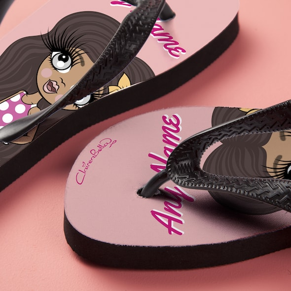 ClaireaBella Girls Close Up Flip Flops - Image 4