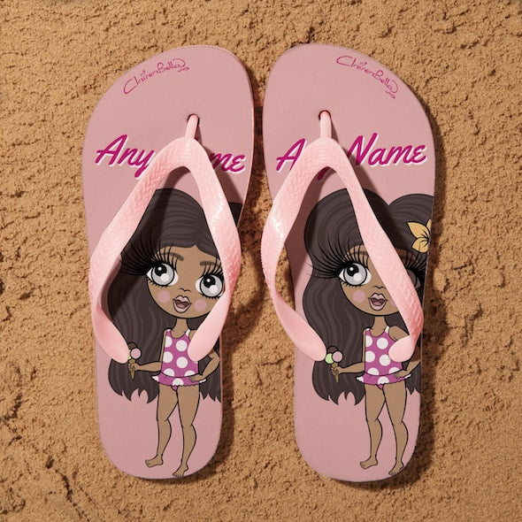 ClaireaBella Girls Close Up Flip Flops - Image 1