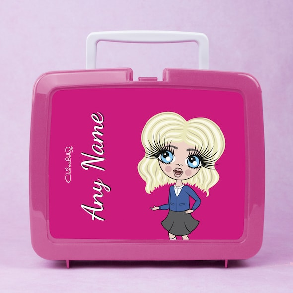 ClaireaBella Girls Hot Pink Lunch Box - Image 1