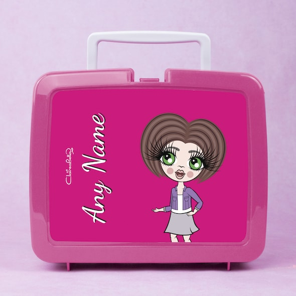 ClaireaBella Girls Hot Pink Lunch Box - Image 3