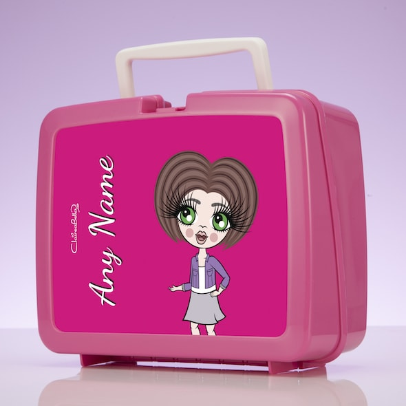 ClaireaBella Girls Hot Pink Lunch Box - Image 2