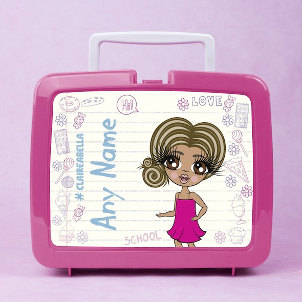 ClaireaBella Girls Notebook Print Lunch Box - Image 1