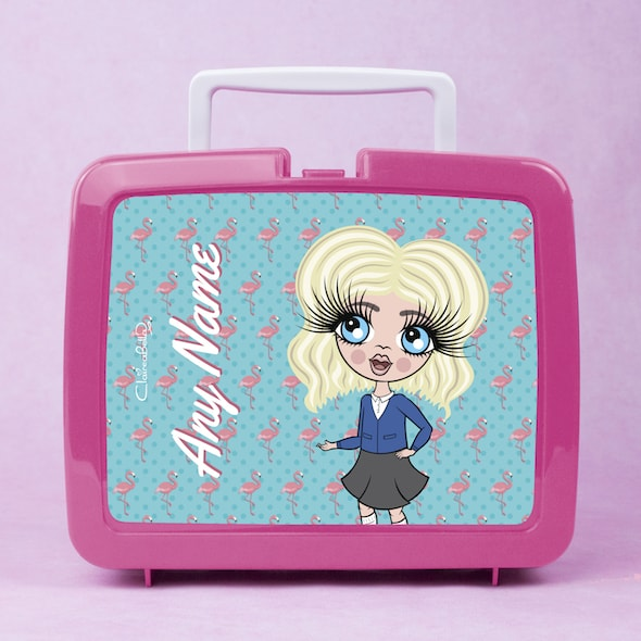 ClaireaBella Girls Flamingo Print Lunch Box - Image 1