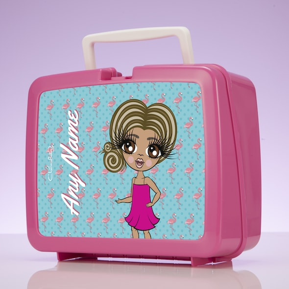 ClaireaBella Girls Flamingo Print Lunch Box - Image 2