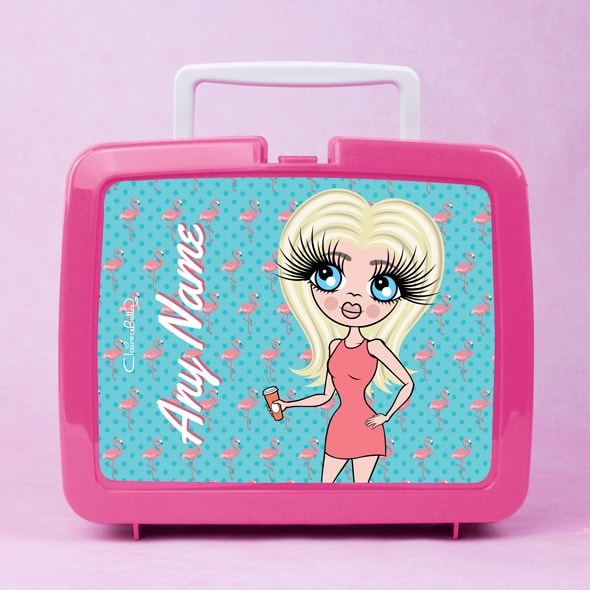 ClaireaBella Flamingo Print Lunch Box - Image 1