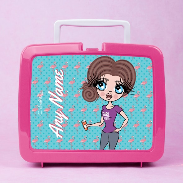 ClaireaBella Flamingo Print Lunch Box - Image 3