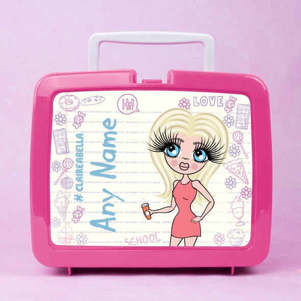 ClaireaBella Notebook Print Lunch Box - Image 1