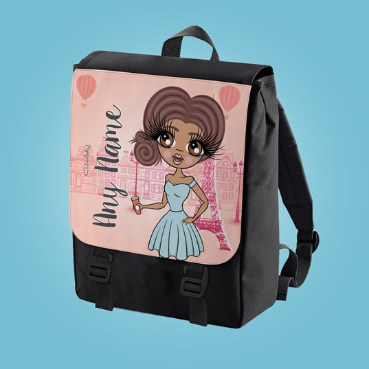ClaireaBella Parisian Pink Large Backpack - Image 1