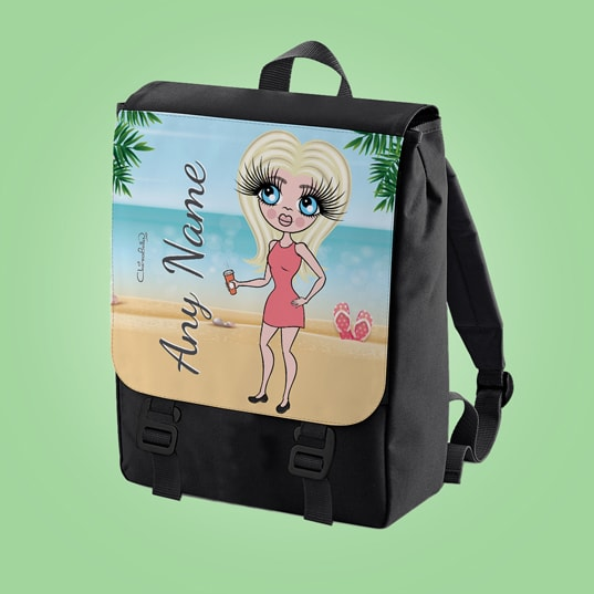 ClaireaBella Beach Print Large Backpack - Image 1