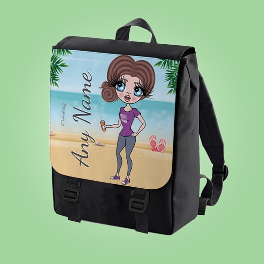 ClaireaBella Beach Print Large Backpack - Image 3