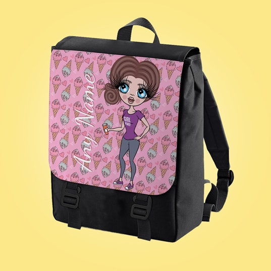 ClaireaBella Ice Cream Large Backpack - Image 1