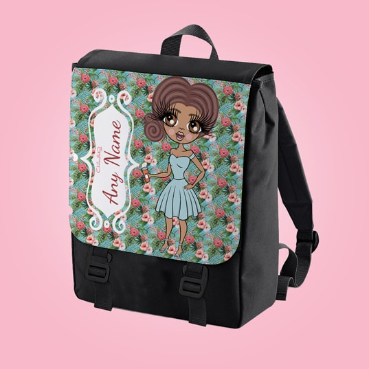 ClaireaBella Hula Print Large Backpack - Image 1