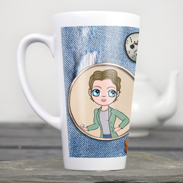 MrCB Denim Effect Latte Mug - Image 2