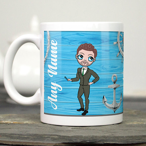 MrCB Nautical Print Mug - Image 1