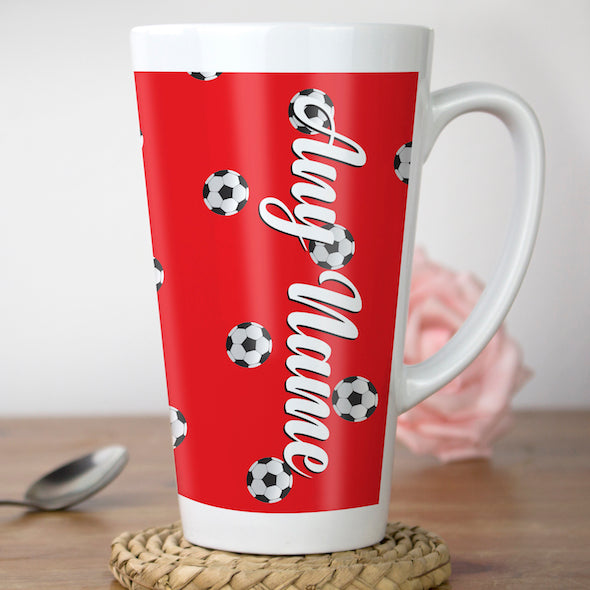 MrCB Football Print Latte Mug - Image 3