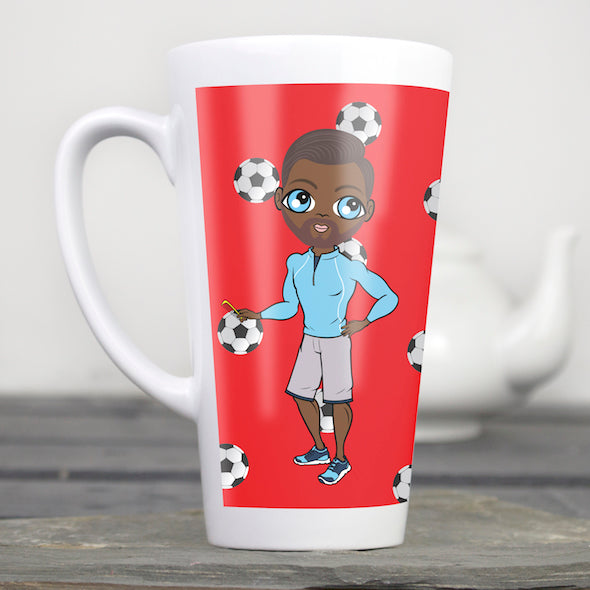 MrCB Football Print Latte Mug - Image 2