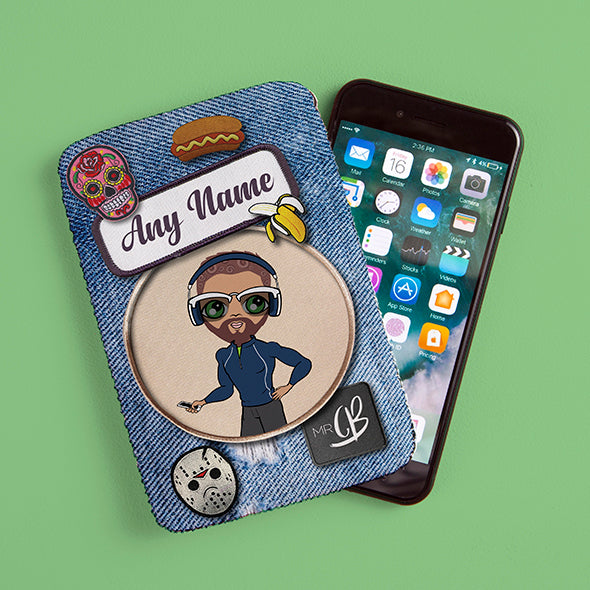 MrCB Denim Effect Fabric Phone Case - Image 1