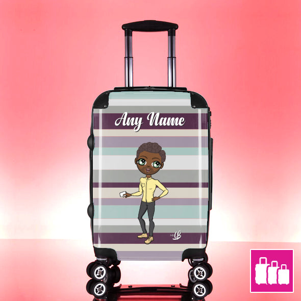 MrCB Coloured Stripe Suitcase - Image 1