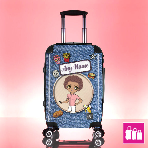 MrCB Denim Effect Suitcase - Image 1