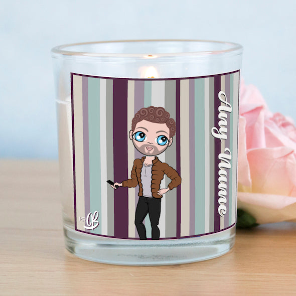 MrCB Scented Candle - Coloured Stripe - Image 1