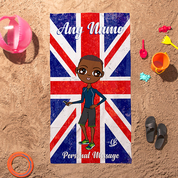 MrCB Union Jack Beach Towel - Image 1