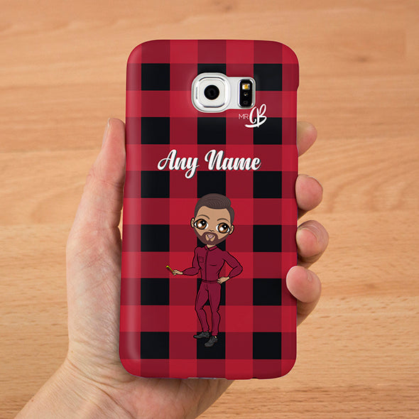 MrCB Tartan Print Personalised Phone Case - Image 1