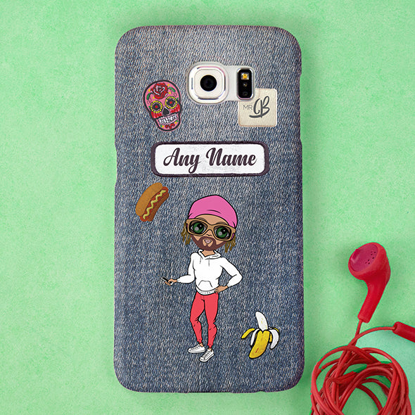 MrCB Denim Effect Personalised Phone Case - Image 4