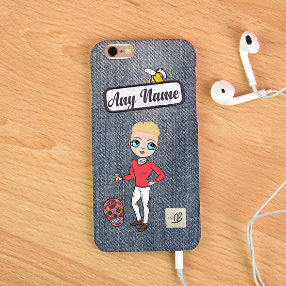 MrCB Denim Effect Personalised Phone Case - Image 2
