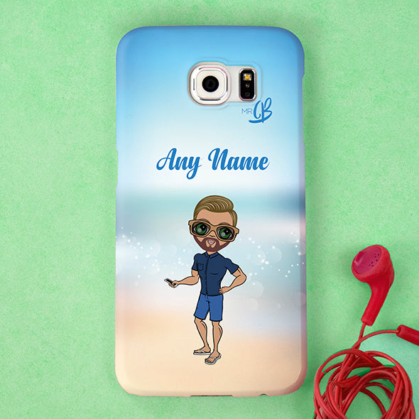 MrCB Beach Colours Personalised Phone Case - Image 1
