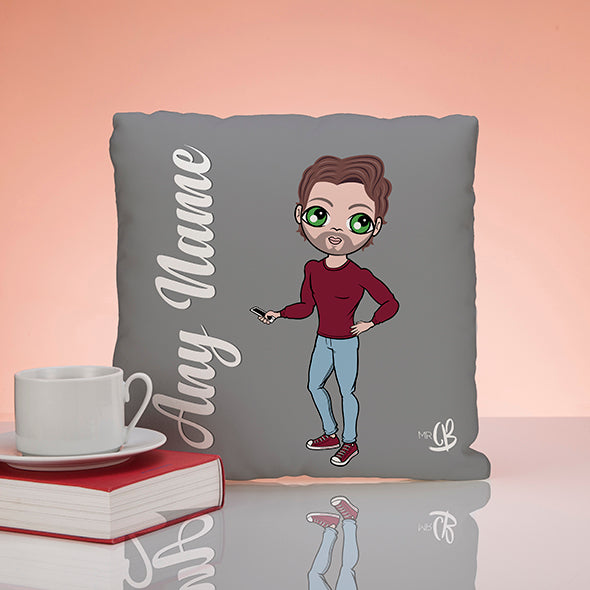 MrCB Grey Square Cushion - Image 1
