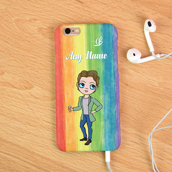 MrCB Rainbow Personalised Phone Case - Image 1