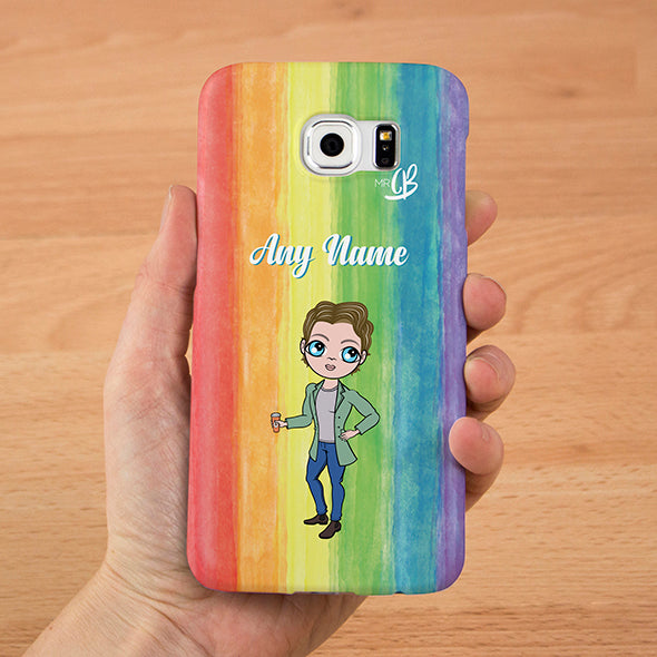 MrCB Rainbow Personalised Phone Case - Image 3