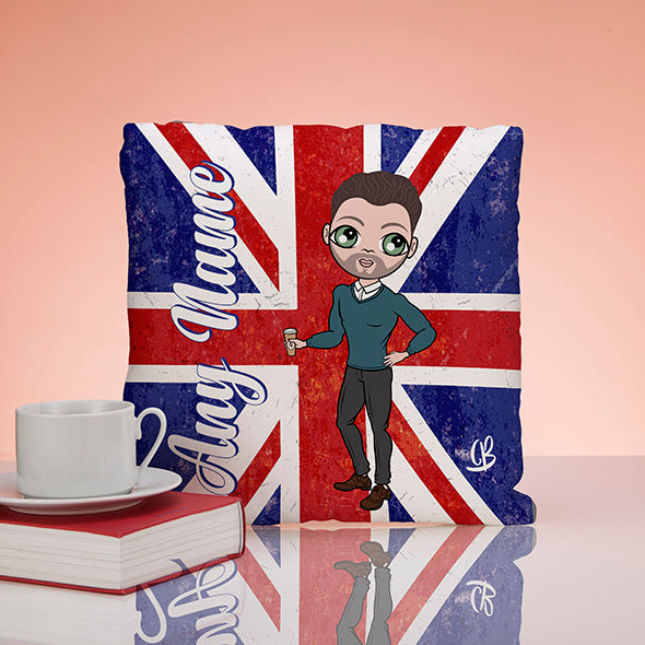 MrCB Union Jack Square Cushion - Image 2