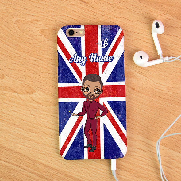 MrCB Union Jack Personalised Phone Case - Image 1